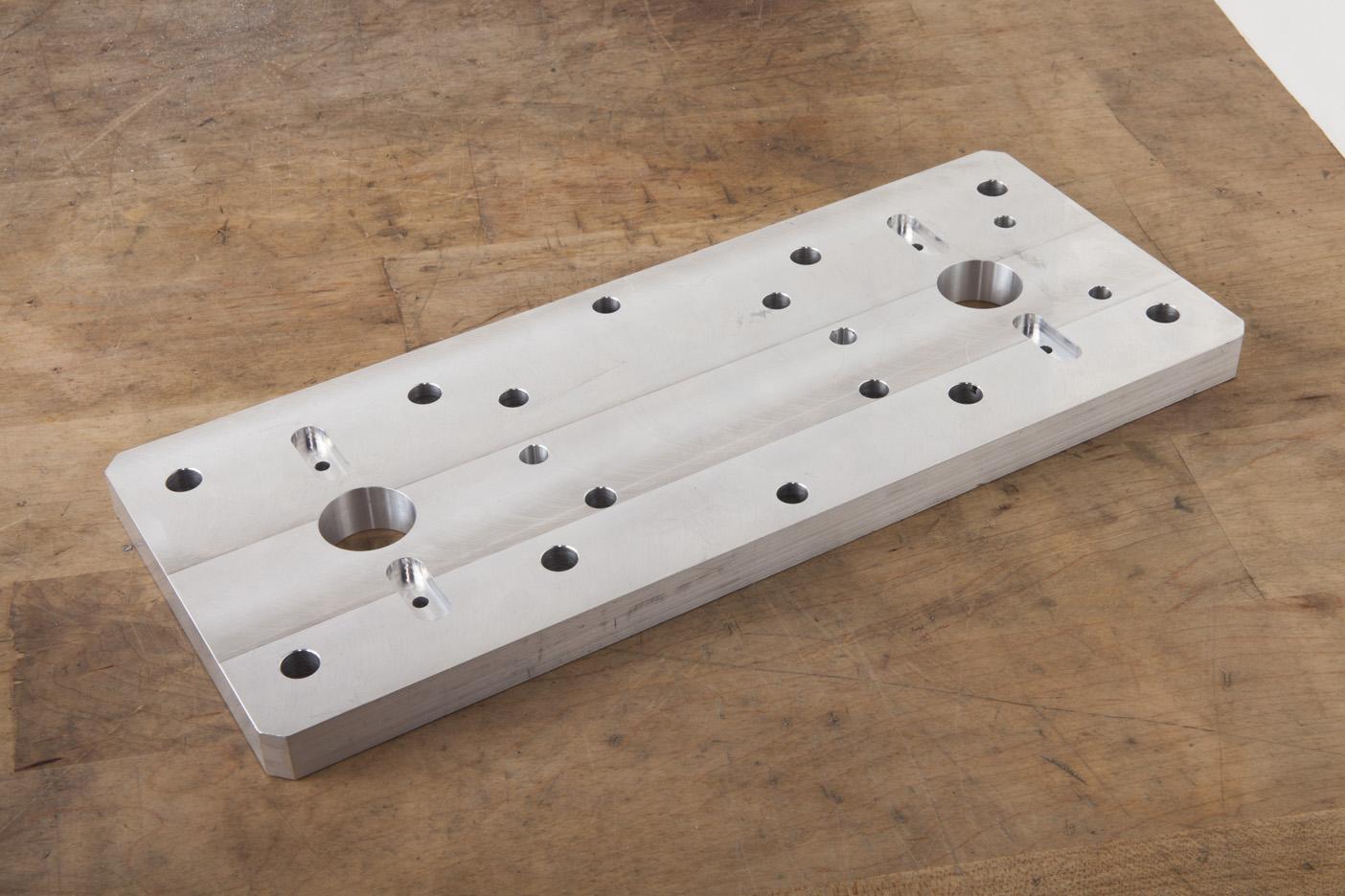 Automation Equipment, MIC-6 Cast Aluminum, PS95 CNC Mill, 2 setups, low volume, anodized finish