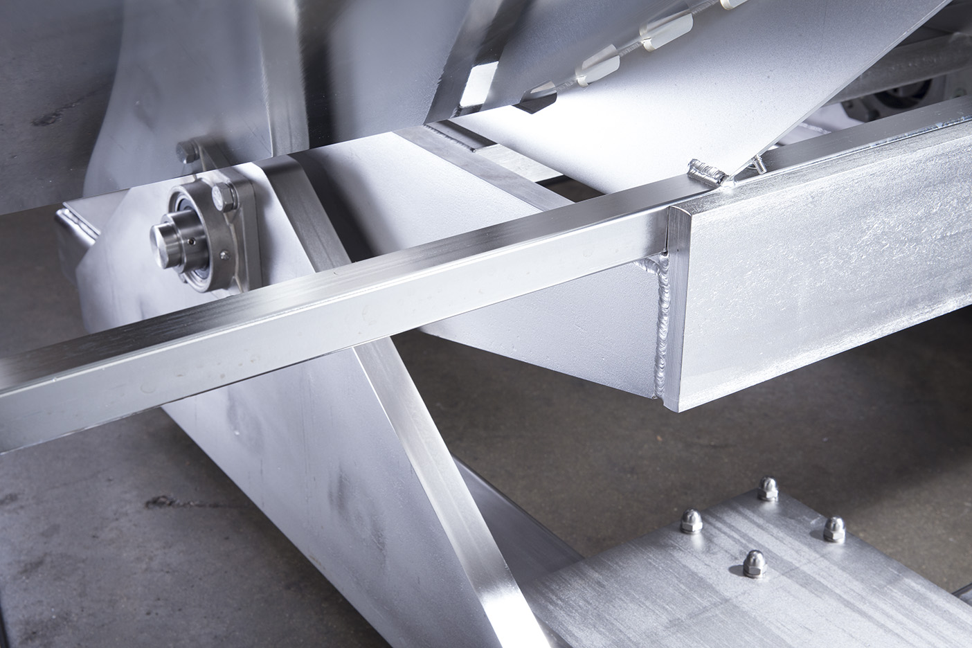 Difficult angles welded to form the foundation of a pharmaceutical manufacturing equipment